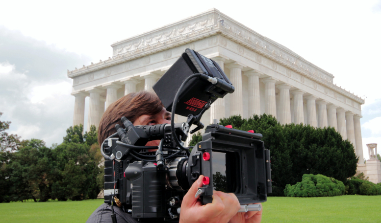 Jeremy Osbern - Shooting a documentary at the Abe Lincoln Memorial in Washington DC