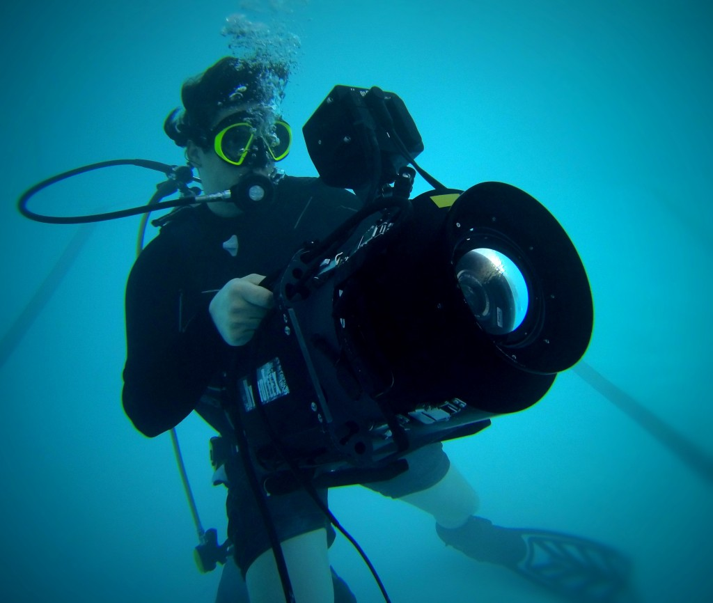 Jeremy Osbern Shooting Underwater, RED EPIC in a HydroFlex Underwater Housing