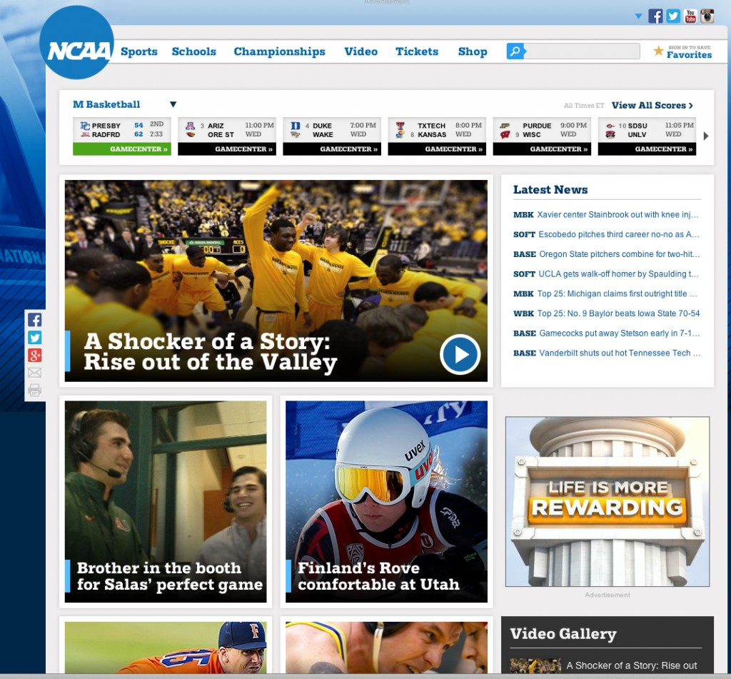 Wichita State NCAA dot com