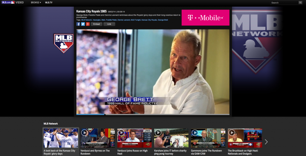 George Brett Royals MLB Network Shot on RED Zeiss Superspeeds Kansas City Royals